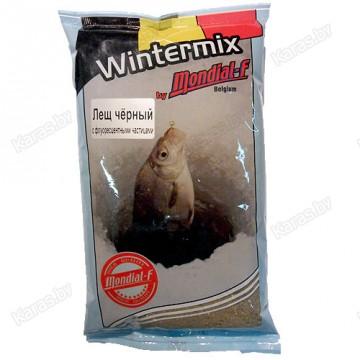 Прикормка зимняя Mondial-F Wintermix Bream Black Fluo 1 кг (Лещ, черный, запах червя)